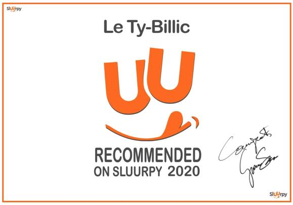 Certificat d'excellence du site Sluurpy