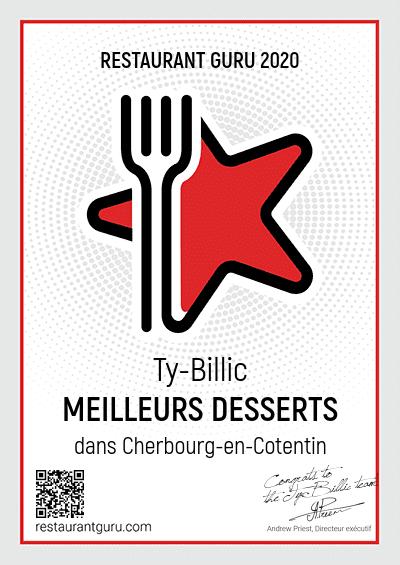 La Crêperie Le Ty-Bilic récompensée pour ses dessert